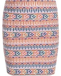 Saloni Embroidered Mini Skirt - Lyst