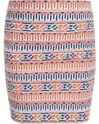 Saloni Embroidered Mini Skirt multicolor - Lyst