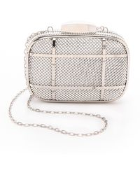 Whiting & Davis Cage Minaudiere Clutch - Lyst