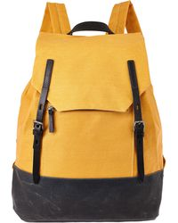 Ally Capellino - Mustard Dean Waxed Canvas Backpack - Lyst