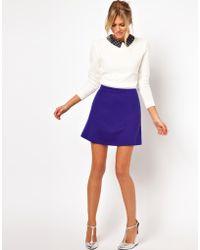ASOS Collection Asos Aline Skirt in Ponte blue - Lyst
