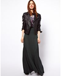 ASOS Collection Asos Maxi Skirt with Seam Detail - Lyst