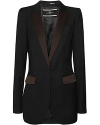 By Malene Birger Twill Jacket - Lyst