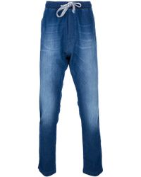 Dolce & Gabbana Denim Look Track Pant - Lyst