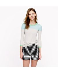 J.Crew Collection Featherweight Cashmere Sweater in Colorblock - Lyst