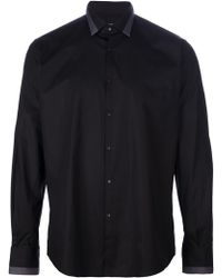 Lagerfeld - Contrasting Collar Shirt - Lyst
