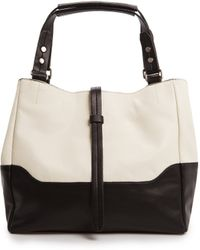 Mango Touch Twotone Tote Bag - Lyst