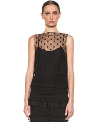 Nina Ricci Polka Dot Shell in Black - Lyst