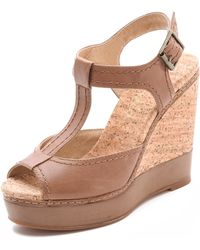 Splendid Kane Tstrap Wedge Sandals - Lyst