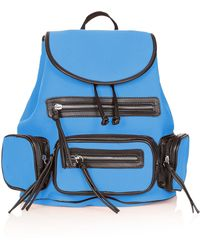 Topshop Neoprene Backpack - Lyst