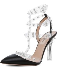 Valentino Naked Rockstud in Transparent Black - Lyst