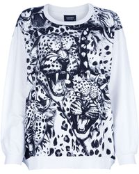 A Question Of - Leopard Loose Sweatshirt - Lyst
