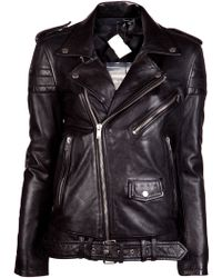 BLK DNM Leather Motorcycle Jacket black - Lyst