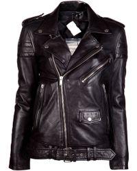 BLK DNM Leather Motorcycle Jacket black - Lyst