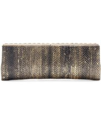 Jimmy Choo Ciggy Snakeskin Clutch - Lyst