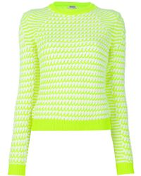 Kenzo Bi-Colour Sweater yellow - Lyst