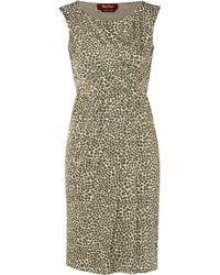 Max Mara Studio Ursola Cap Sleeve Spotted Print Dress - Lyst