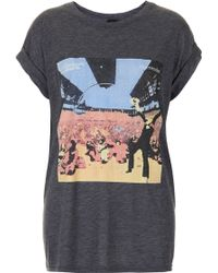 Topshop Chemical Brothers Tee By and Finally gray - Lyst
