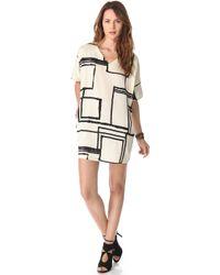 Tucker - V Neck Tunic Dress with Pockets - Lyst
