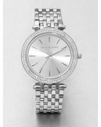 Michael Kors Darci Stainless Steel Glitz Watch - Lyst