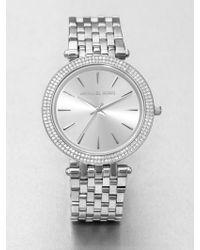 Michael Kors Darci Glitz Stainless Steel Bracelet Watch - Lyst