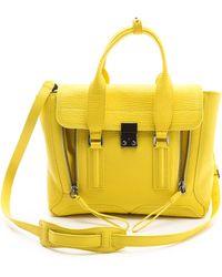 3.1 Phillip Lim Pashli Medium Satchel yellow - Lyst