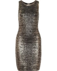 Michael by Michael Kors Coated-Bandage Dress - Lyst