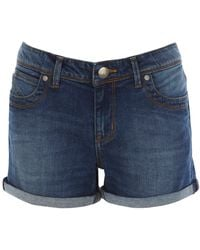 Oasis Authentic Wash Boyfriend Shorts - Lyst
