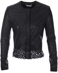 Diane Von Furstenberg Merryl Leather Jacket  - Lyst