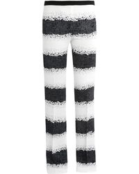Giles Printed Flared Tailored Trousers - Lyst