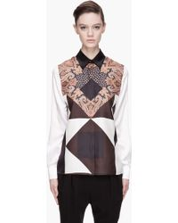 Givenchy  Paisley Print Silk Blouse white - Lyst