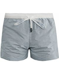 Myo - Oxford Check Swim Shorts - Lyst