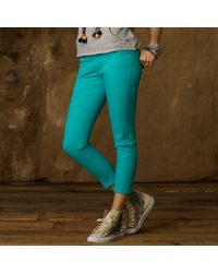 Ralph Lauren Colored Cropped Skinny Jean - Lyst