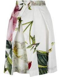 Vivienne Westwood Anglomania - White Liberty Floral Print Skirt - Lyst