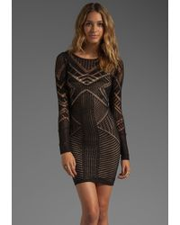 BCBGMAXAZRIA Long Sleeve Dress - Lyst