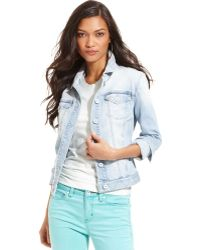 Calvin Klein Jeans Jacket Longsleeve Denim Light Wash - Lyst