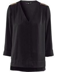 H&M Blouse black - Lyst