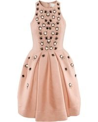 H&M Dress with Beaded Embroidery pink - Lyst