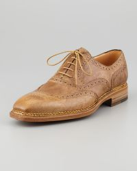 Lidfort - Medallion Uwing Lace-up Neutral - Lyst