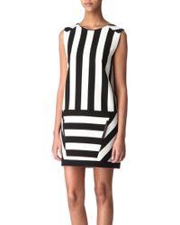 Maje Curd Striped Dress - Lyst