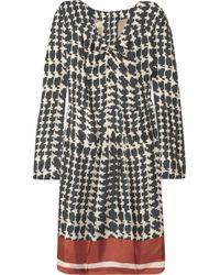 Marni Printed Silk-Twill Dress - Lyst