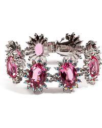 Mawi - Linked Daisy Gemstone Bracelet in Pink - Lyst