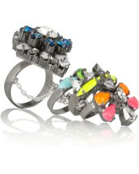 Shourouk Tzarine Silverplated Swarovski Crystal Ring silver - Lyst