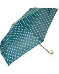 TOPSHOP - Polka Dot Crook Umbrella - Lyst