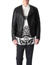 3.1 Phillip Lim Padded Leather Motorcycle Jacket - Lyst
