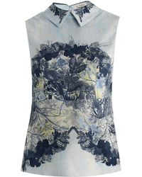 Erdem Lilleth Collar-Detail Top - Lyst