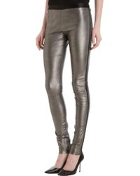 Les Chiffoniers - Metallic Leather Leggings - Lyst
