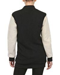 Ring - Wool Felt and Nubuck Bomber Jacket - Lyst
