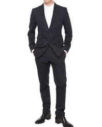 Tom Ford - Three Button Peaked Lapel Poplin Suit - Lyst