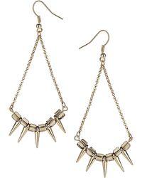 Topshop Mini Spike Drop Earrings - Lyst